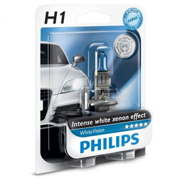 Żarówka H1 Philips WhiteVision xenon effect
