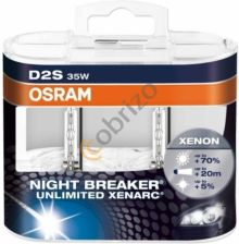 OSRAM D2S XENARC NIGHT BREAKER UNLIMITED DUO +70%