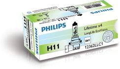 PHILIPS H11 12V 55W PGJ19-2 LongLife EcoVision