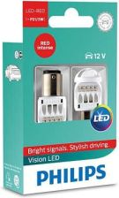 Philips P21/5W 12V/24V 1,9W/0,3W Bay15D Led Red 12836 X2