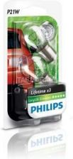 Philips P21W Philips LongLife EcoVision BA15s 12V 21W (komplet - 2szt.) (12498ECO-BL)